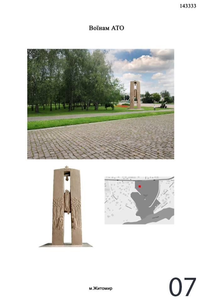 Памятник войнам АТО Житомир 007 960