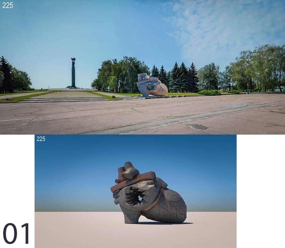 Памятник войнам АТО Житомир 001 670